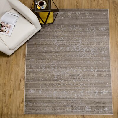 Brunet Gray Area Rug Rug Size: 76 x 98
