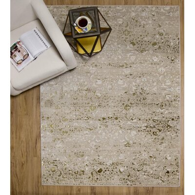 Brunet Cream Area Rug Rug Size: 76 x 98
