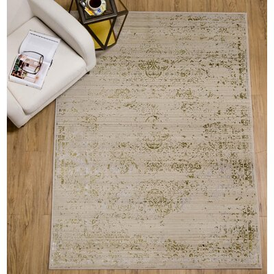 Brunet Cream Area Rug Rug Size: 66 x 82