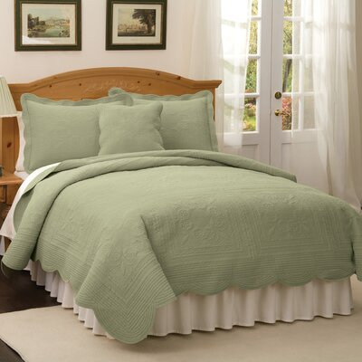 Ambroise Quilt Size: Full, Color: Tea Green
