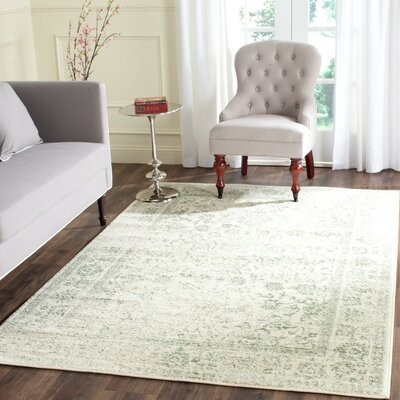 Issa Ivory/Sage Area Rug Rug Size: Rectangle 10 x 14