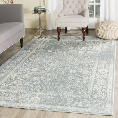 Issa Slate/Ivory Area Rug Rug Size: Rectangle 4 x 6