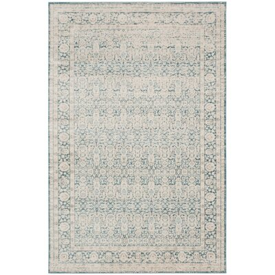 Bertille Blue/Gray Area Rug Rug Size: Rectangle 67 x 92