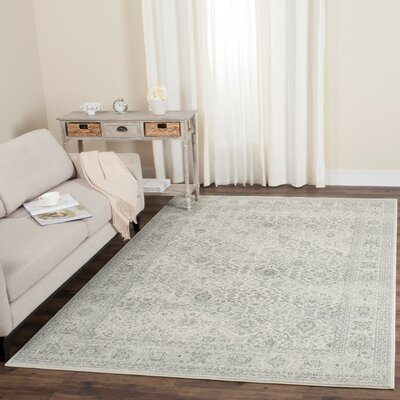 Akron Creek Cream/Dark Gray Area Rug Rug Size: Runner 23 x 8