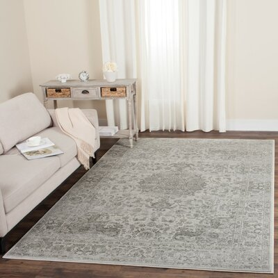 Akron Creek Cream/Dark Gray Area Rug Rug Size: Rectangle 4 x 6
