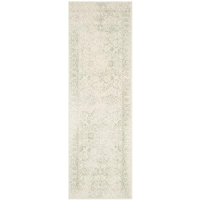 Issa Ivory/Sage Area Rug Rug Size: Runner 26 x 10