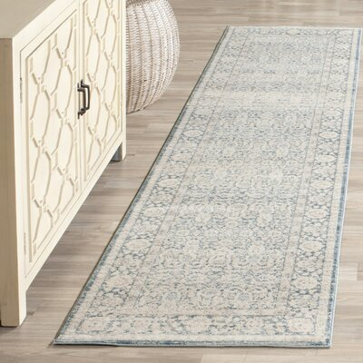 Bertille Blue/Gray Area Rug Rug Size: Runner 22 x 8