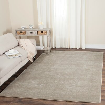 Akron Creek Light Beige/Cream Area Rug Rug Size: Runner 2'3