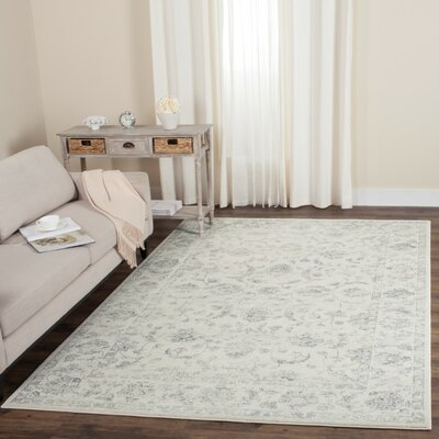 Akron Creek Cream/Gray Area Rug Rug Size: Runner 23 x 8