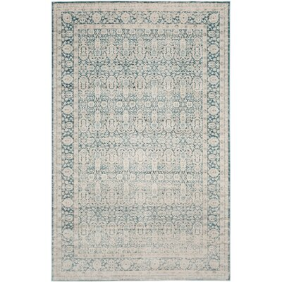 Bertille Blue/Gray Area Rug Rug Size: Rectangle 4 x 6