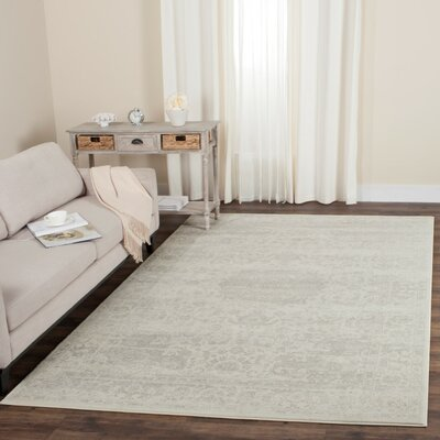Akron Creek Cream/Light Gray Area Rug Rug Size: Rectangle 51 x 76