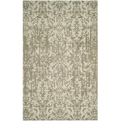 Ellicottville Hand-Tufted Gray Wool Area Rug Rug Size: 8 x 10