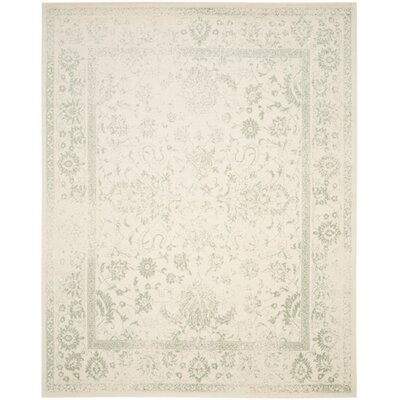 Issa Ivory/Sage Area Rug Rug Size: Rectangle 8' x 10'