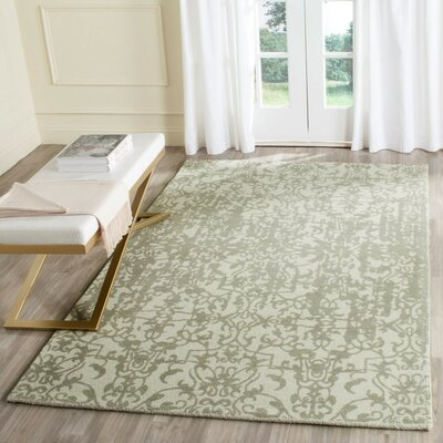 Ellicottville Hand-Tufted Gray Wool Area Rug Rug Size: Round 6
