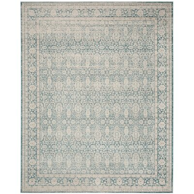 Bertille Blue/Gray Area Rug Rug Size: Rectangle 8 x 10