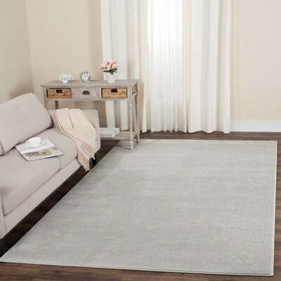 Akron Creek Light Gray/Cream Area Rug Rug Size: Runner 23 x 12