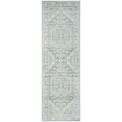 Ebenezer Slate Area Rug Rug Size: Runner 26 x 8