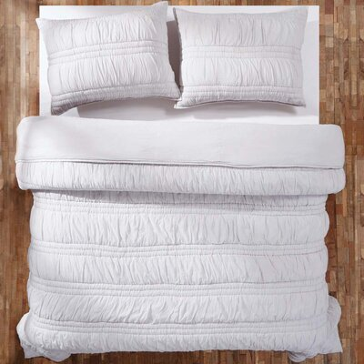 Claude 3 Piece Quilt Set Color: Silver Cloud, Size: Lux King