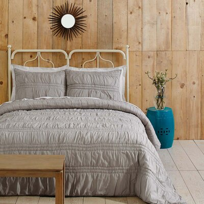 Claude 3 Piece Quilt Set Size: Queen, Color: Chateau Gray