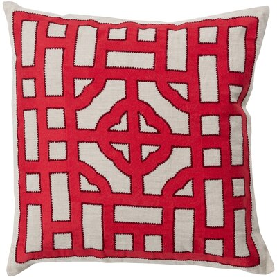 Gaudreau Chinese Gate 100% Linen Throw Pillow Cover Size: 20