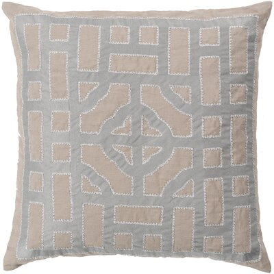 Gaudreau Chinese Gate 100% Linen Throw Pillow Cover Size: 18 H x 18 W x 0.25 D, Color: BrownMetallic