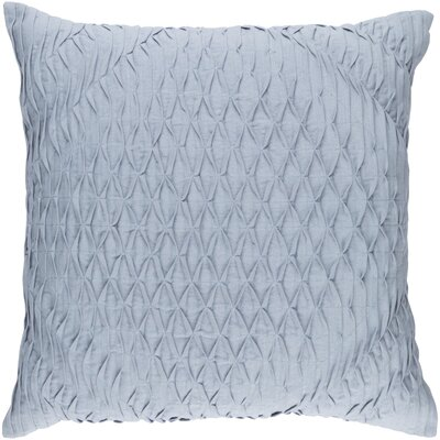 Baine Throw Pillow Cover Color: Blue, Size: 22 H x 22 W x 0.25 D
