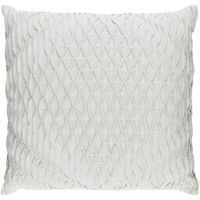 Baine Throw Pillow Cover Size: 20 H x 20 W x 1 D, Color: Silver Gray