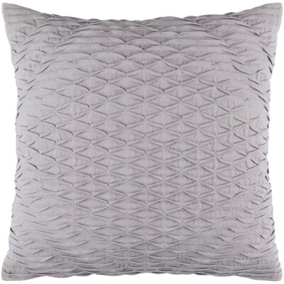Baine Throw Pillow Cover Size: 18 H x 18 W x 1 D, Color: Gray