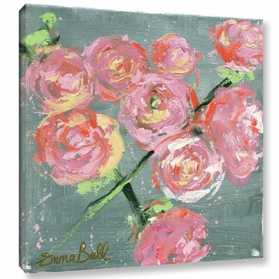'Peonies' by Emma Bell Painting Print on Wrapped Canvas
