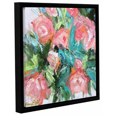 Garden Peonies Framed Painting Print