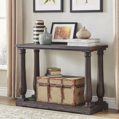 Airelle Console Table Color: Charcoal Brown