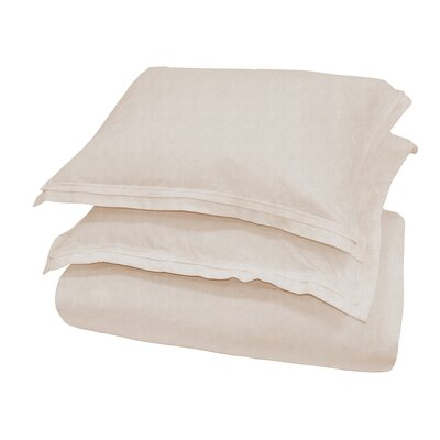 Orellana Duvet Cover Color: Natural, Size: King