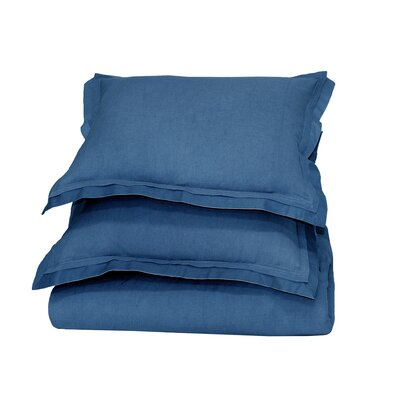 Orellana Duvet Cover Color: Denim Blue, Size: King