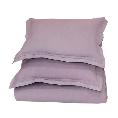 Orellana Duvet Cover Color: Lavender, Size: King