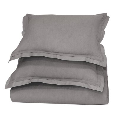 Orellana Duvet Cover Color: Grey, Size: King