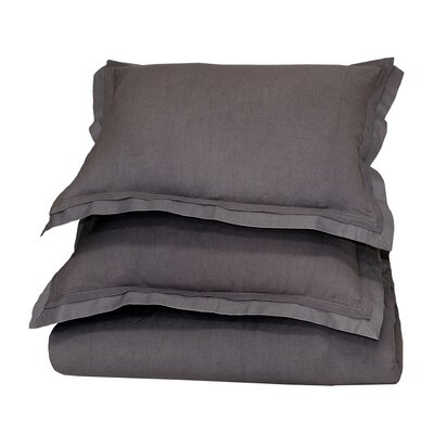 Orellana Sham Size: Standard, Color: Charcoal