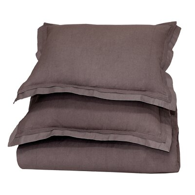 Orellana Duvet Cover Color: Chocolate, Size: King