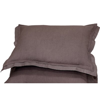 Orellana Sham Size: Standard, Color: Chocolate