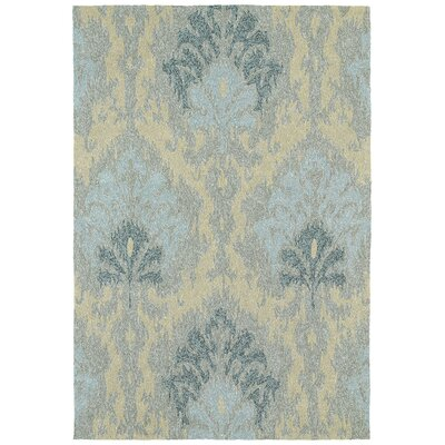 Aldred Sea Spray Spa Floral Indoor / Outdoor Area Rug Rug Size: 5 x 76