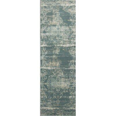 Camellia Slate Area Rug Rug Size: Runner 22 x 611