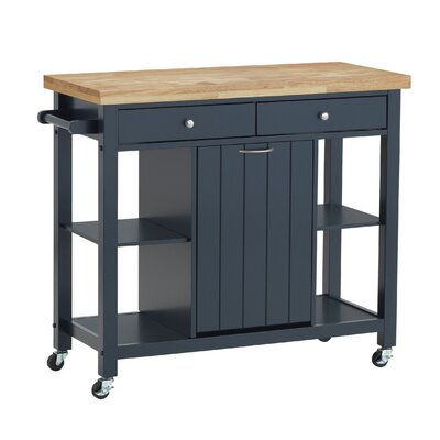 Aldridge Kitchen Cart Base Finish: Navy Blue