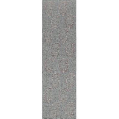 Dyann Hand-Woven Gray Wool Area Rug Rug Size: Runner 23 x 8