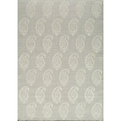 Dyann Hand-Woven Silver Area Rug Rug Size: Rectangle 5 x 8