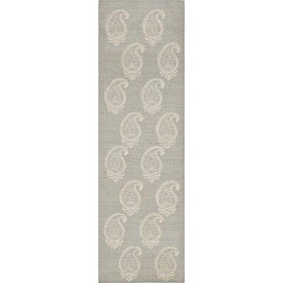 Dyann Hand-Woven Silver Area Rug Rug Size: Runner 23 x 8