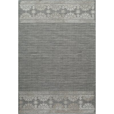 Dyann Hand-Woven Gray Area Rug Rug Size: Rectangle 36 x 56