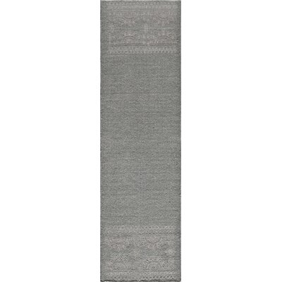 Dyann Hand-Woven Gray Area Rug Rug Size: Runner 23 x 8