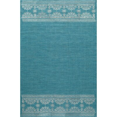 Dyann Hand-Woven Teal Area Rug Rug Size: Rectangle 5 x 8