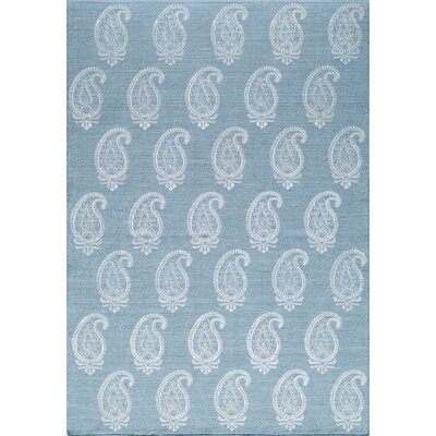 Clark Rock Hand-Woven Soft Blue Area Rug Rug Size: 8 x 10