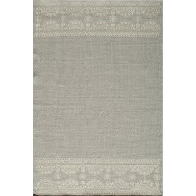 Dyann Hand-Woven Silver Area Rug Rug Size: Rectangle 8 x 10