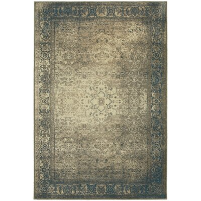 Marche Blue/Beige Area Rug Rug Size: Rectangle 53 x 76